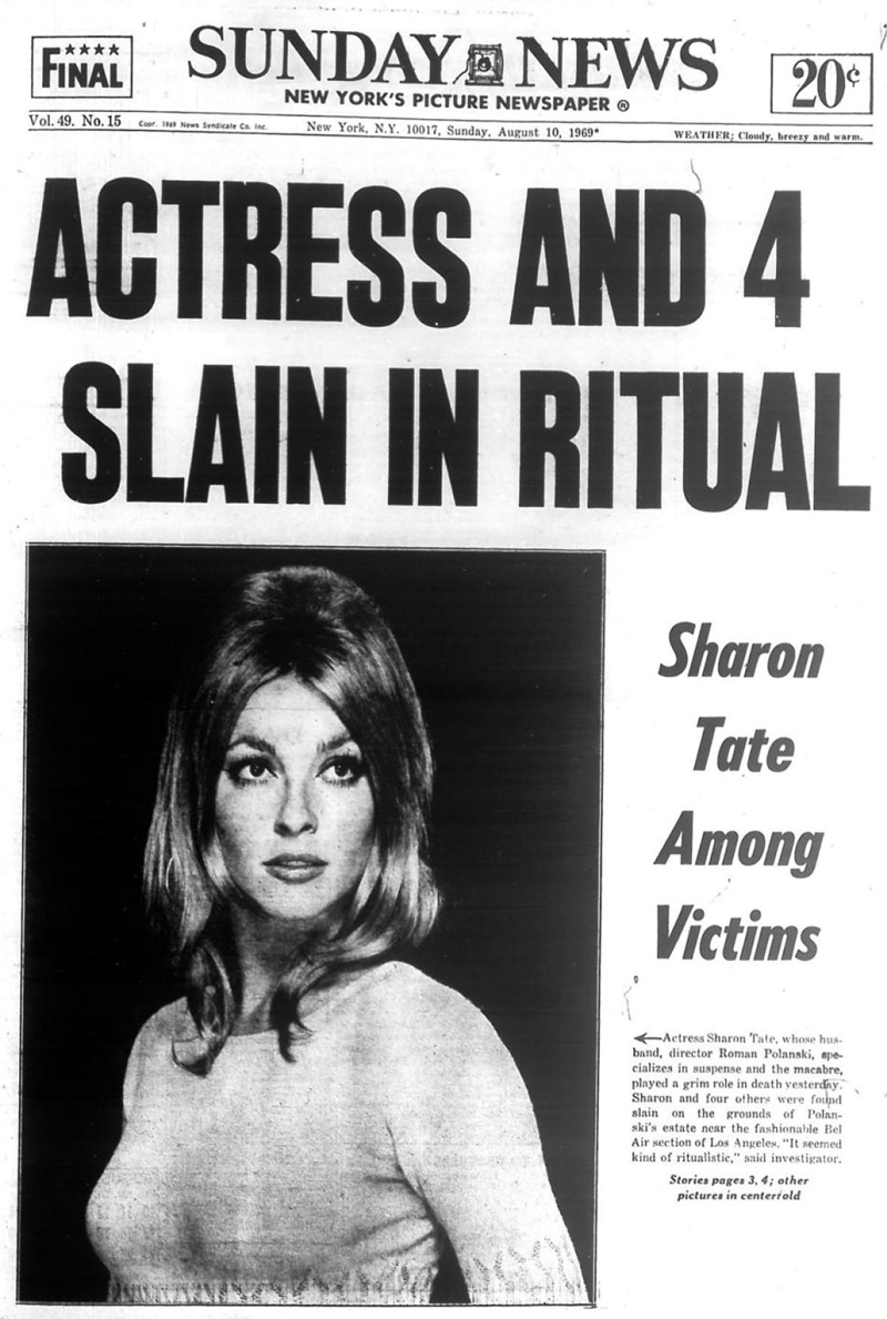 Muerte Sharon Tate Charles Manson