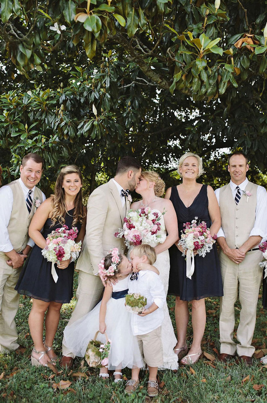 Photobombs de bodas - Beso de bebés