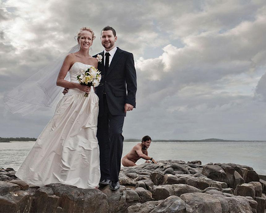 Photobombs de bodas - Hombre desnudo