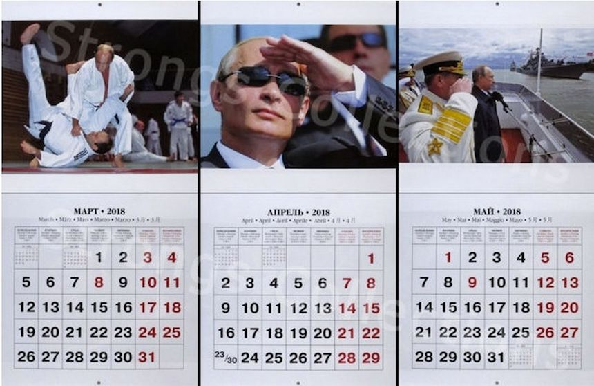 Calendario de Vladimir Putin 2018 - Fotos geniales