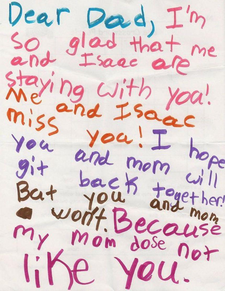 Dibujos de niños - Divorcio de los padres