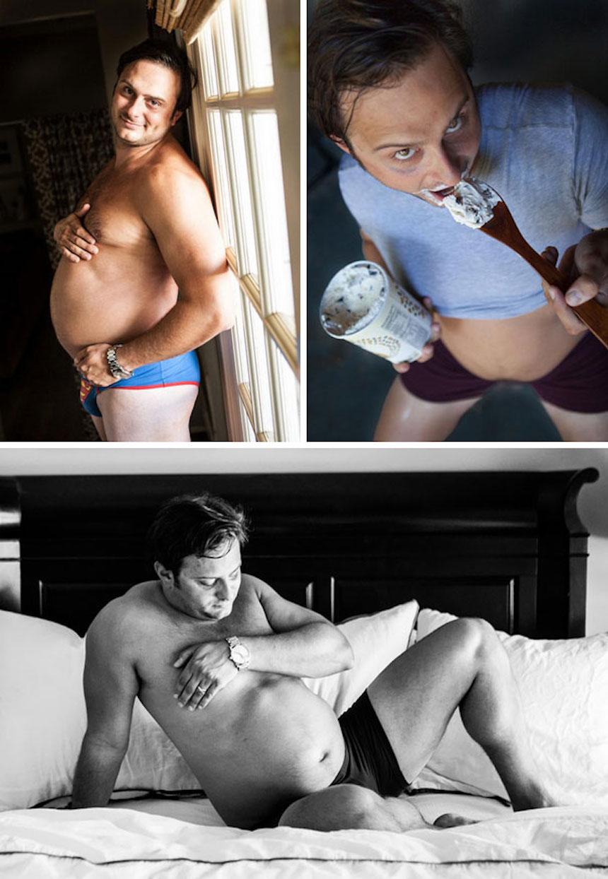 Fotos graciosas de novios y esposos - Fotos de embarazo