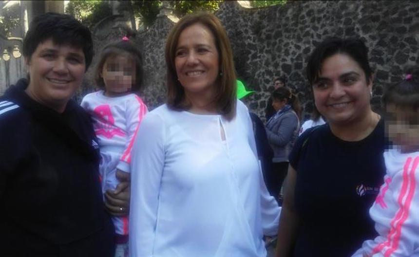 Recibe Margarita Zavala apoyo de cuadros del PAN