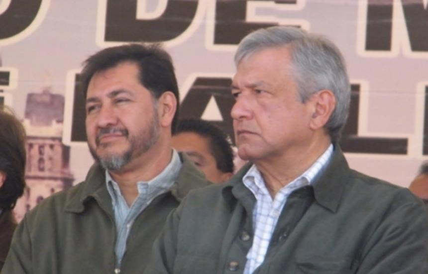 Gerardo Fernández Noroña y Andrés Manuel López Obrador