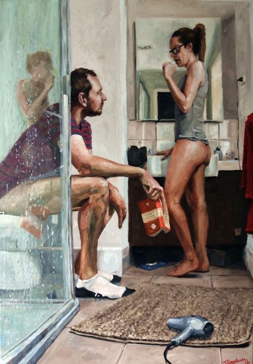 Fotos graciosas de novios y esposos - Cuadro de parejas
