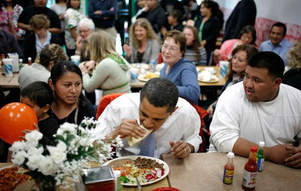 Obama con taco