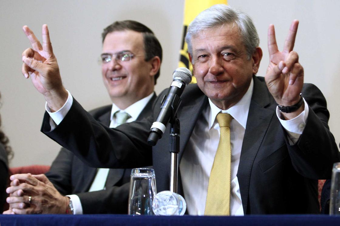 Andrés Manuel López Obrador y Marcelo Ebrard Casaubón
