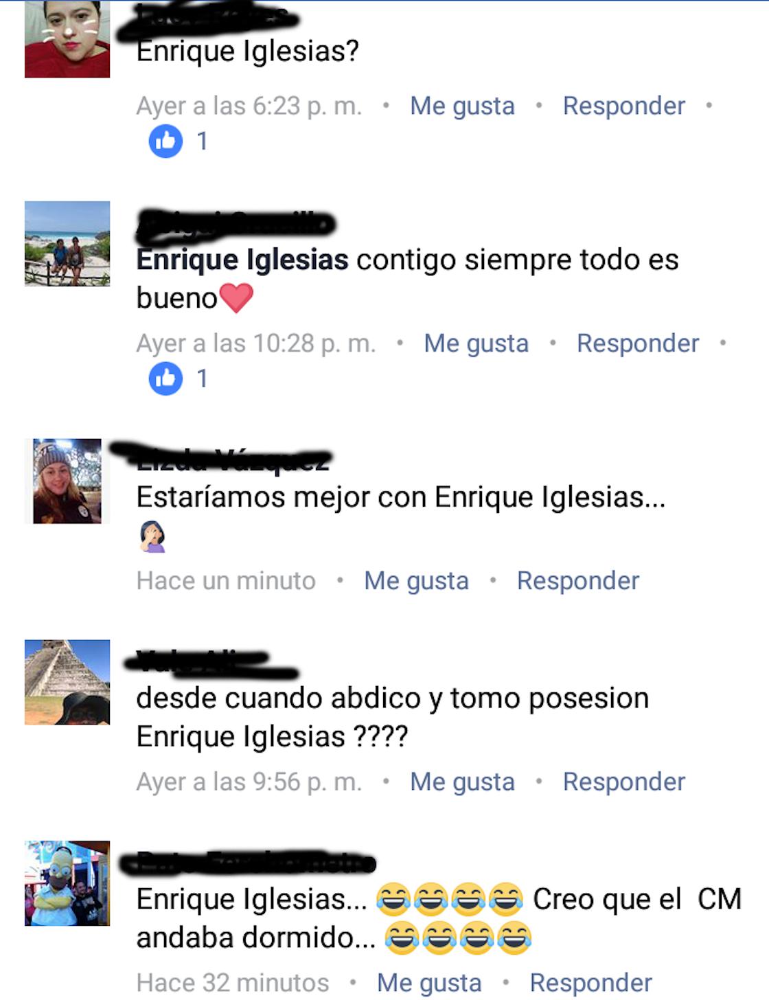 Confunden a Enrique Peña Nieto con Enrique Iglesias