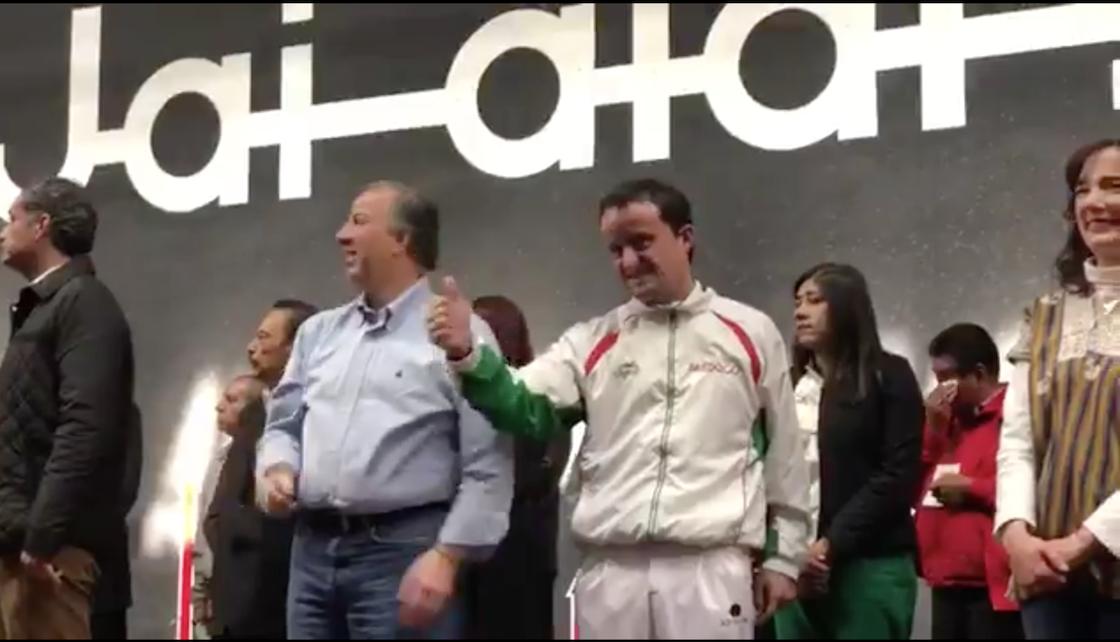 Mikel Arriola y José Antonio Meade