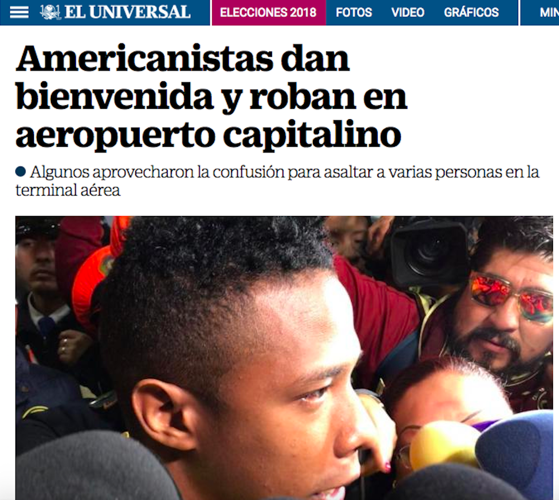 """Cuando una broma entre americanistas se convierte en una nota de """"asalto"""""""