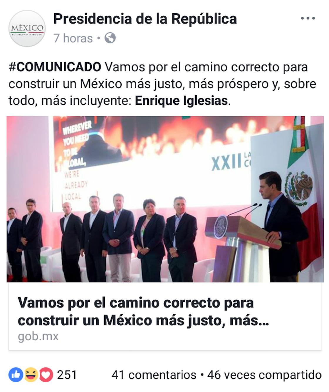 Confunden a Enrique Iglesias con Enrique Peña Nieto