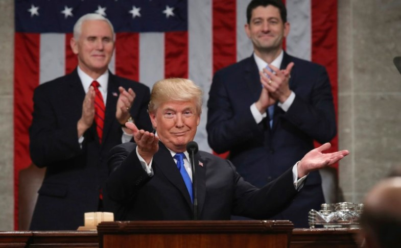Trump en discurso sobre el estado de la Unión