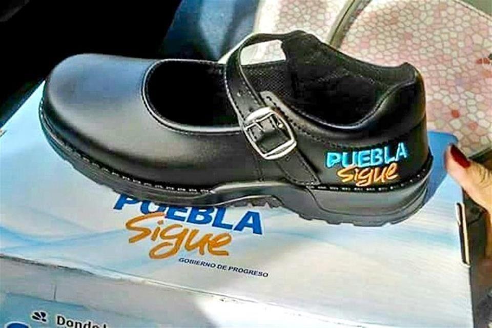 Zapatos reportidos por gobierno de Puebla