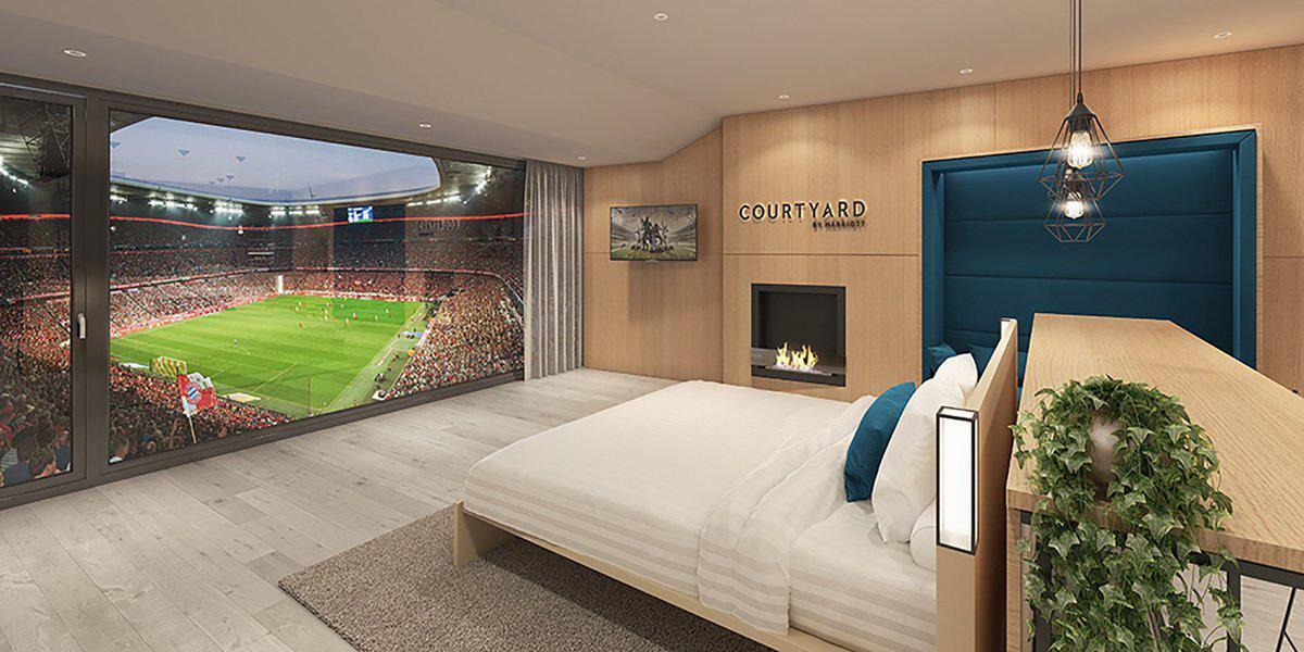 Hotel en el Estadio del Bayern Munich