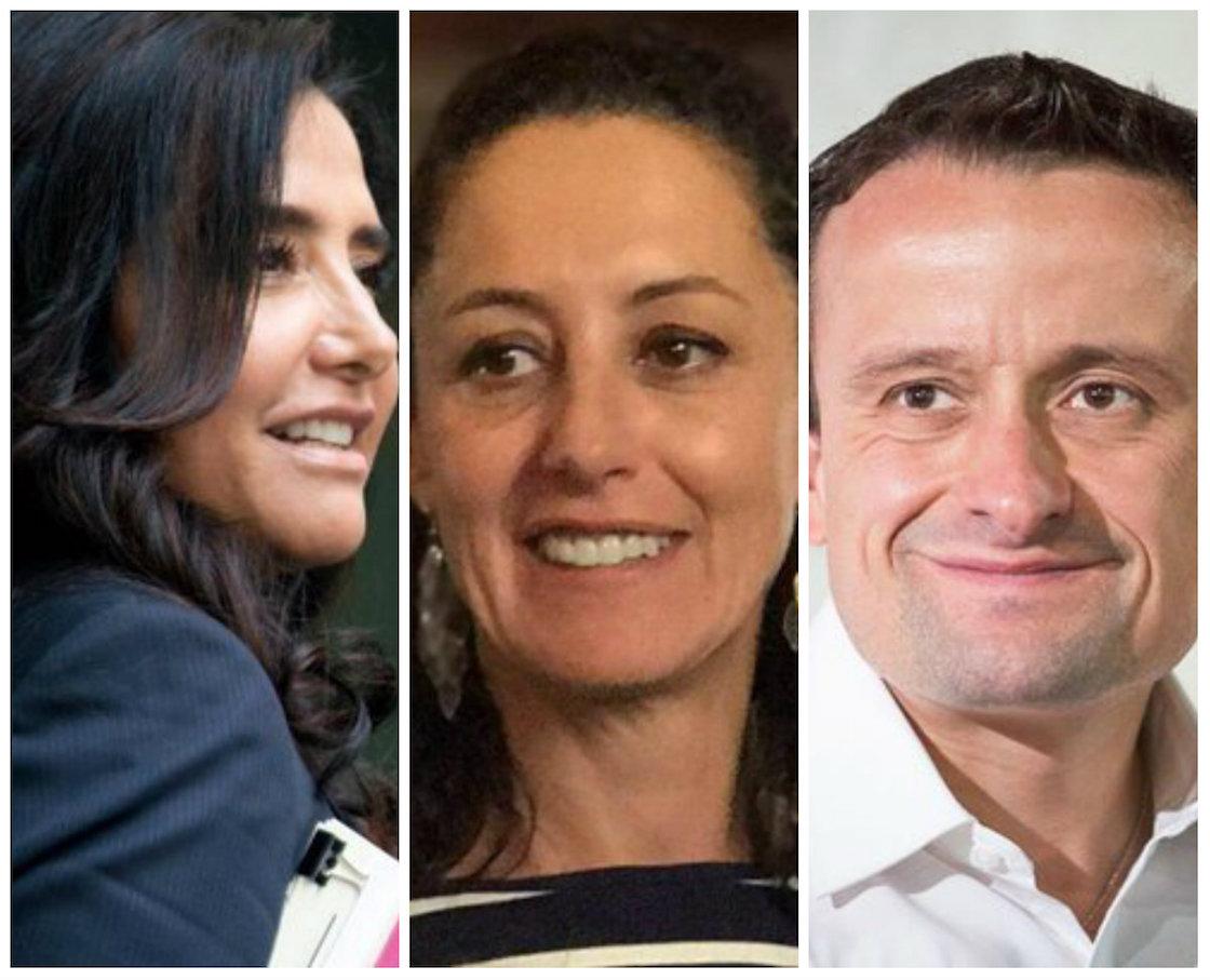 Mikel Arriola, Alejandra Barrales y Claudia Sheinbaum