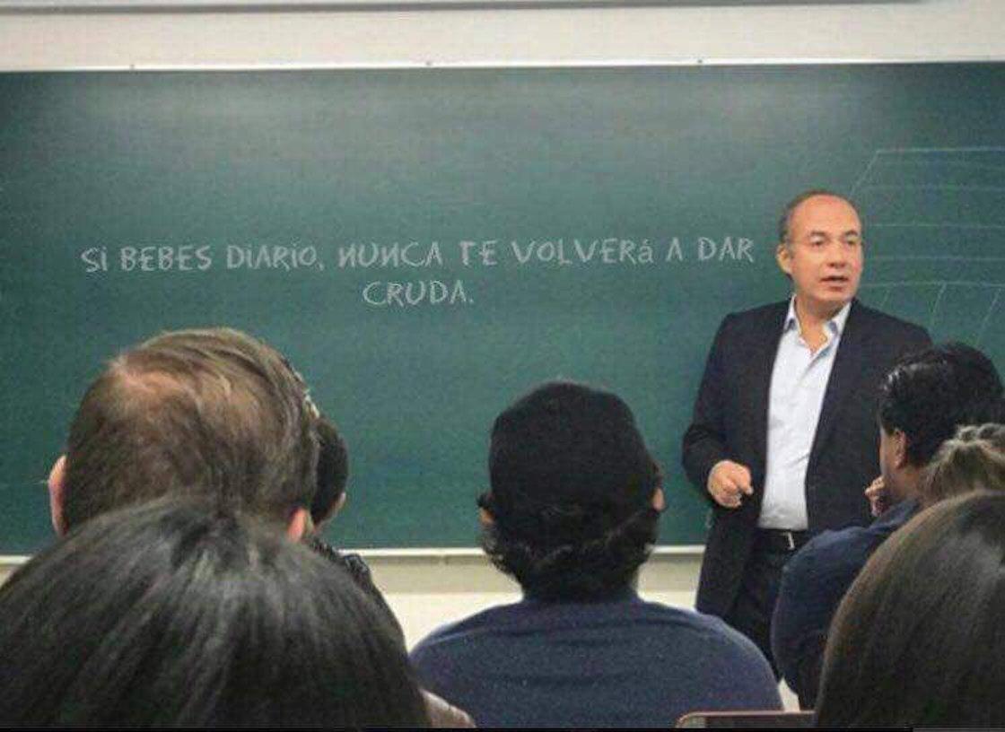 Felipe Calderón Hinojosa, expresidente de México, da clases en el ITAM