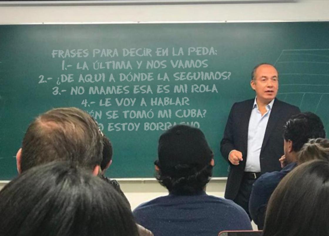 Felipe Calderón da clases en el ITAM