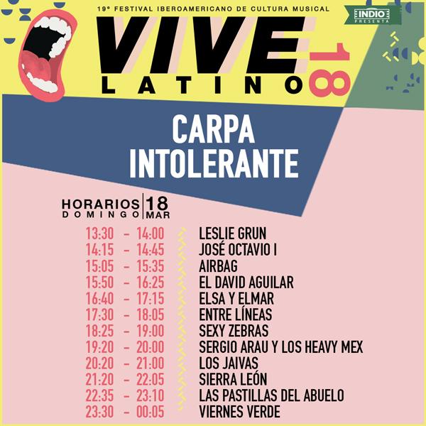 horarios vive latino domingo
