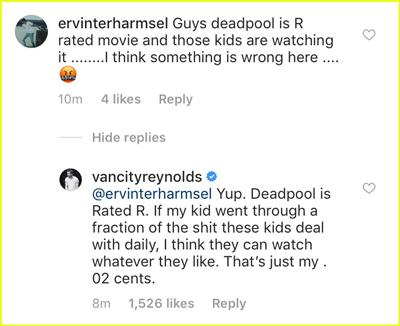 respuesta de Ryan reynolds a un fan que lo criticó