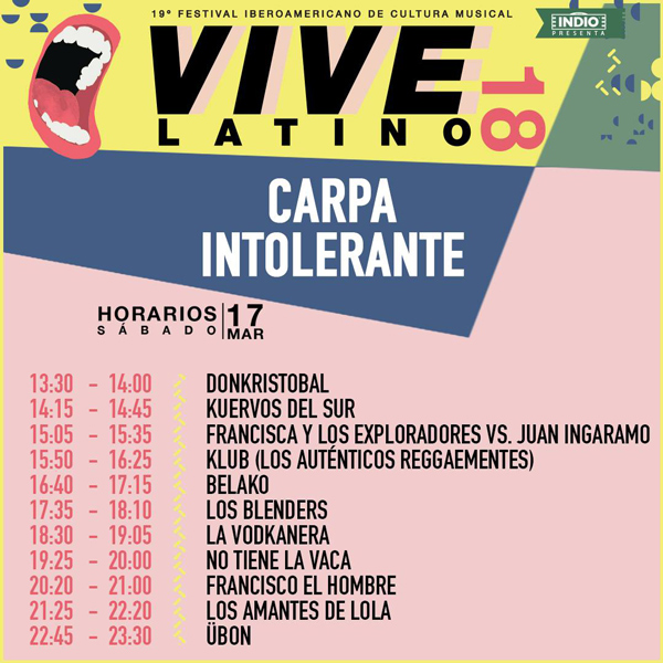 sábado horarios vive latino