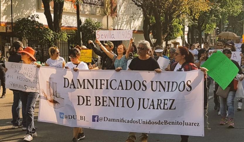 A seis meses, marcha de damnificados del 19S