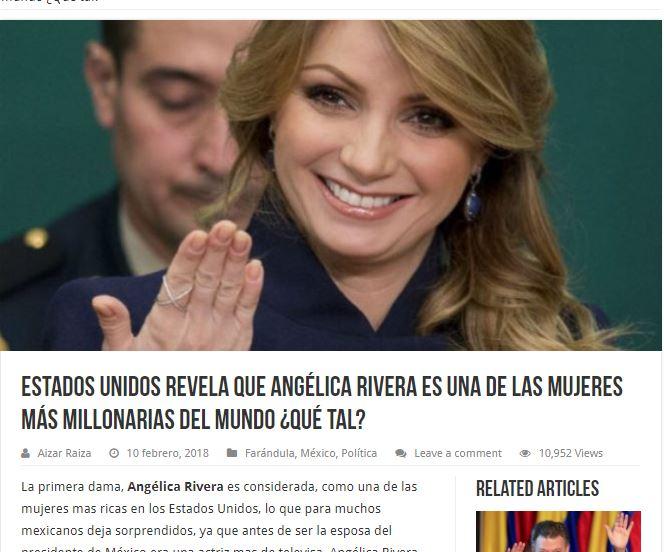 Angélica Rivera no es una de las mujeres más rica en el mundo