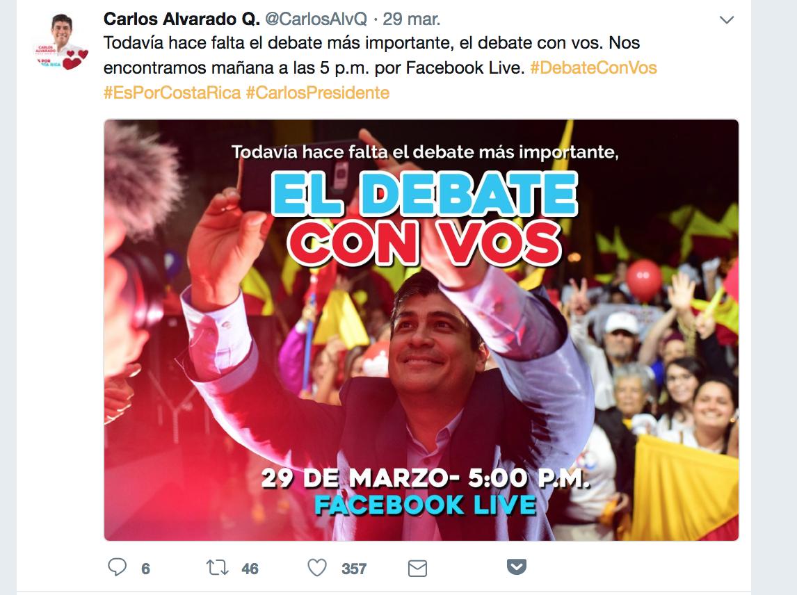 Carlos Alvarado candidato del PAC