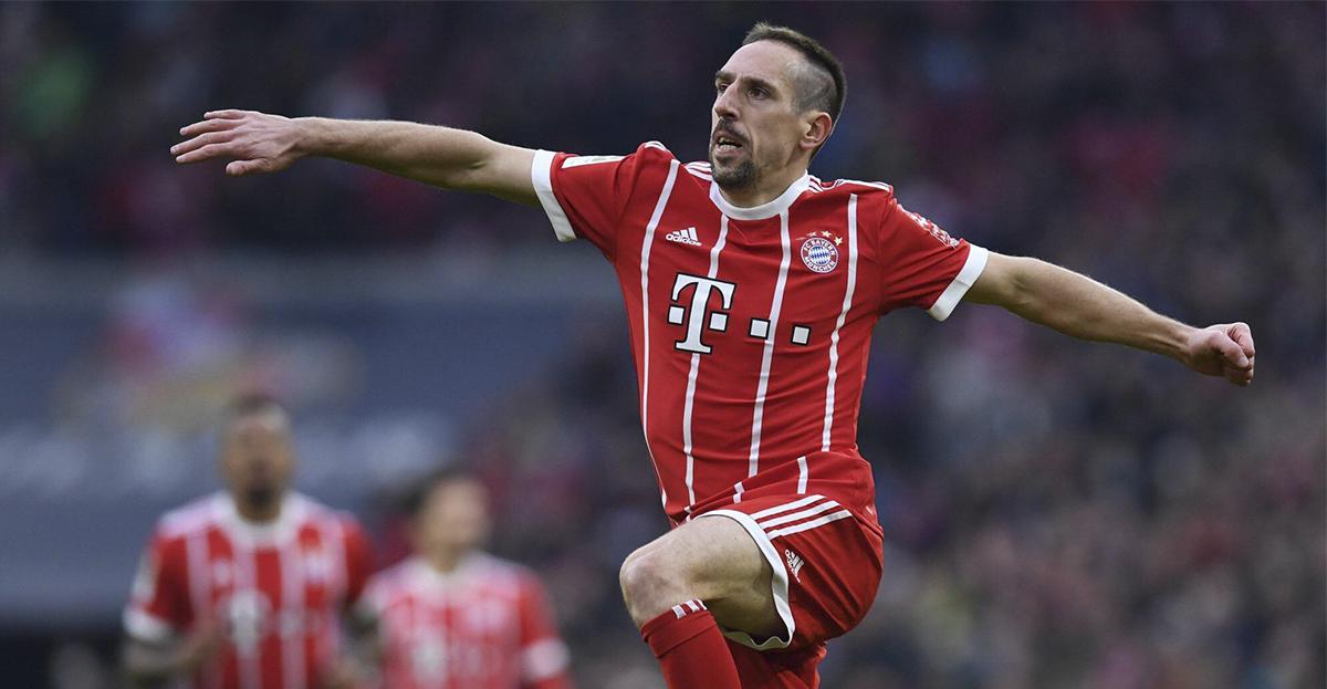 Ribéry anotó contra el Dortmund
