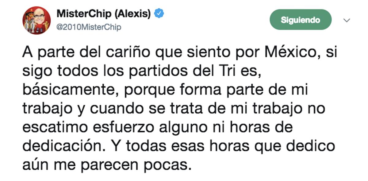 Mister Chip defiende a México