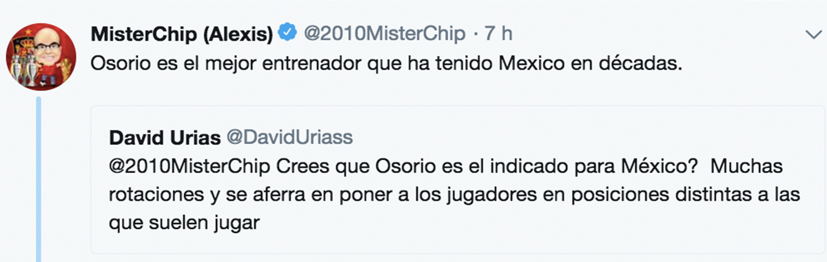 Mister Chip defiende a Osorio