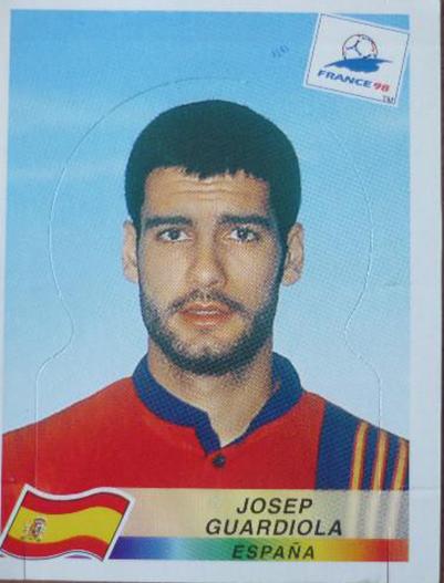 Pep Guardiola Panini Francia 1998