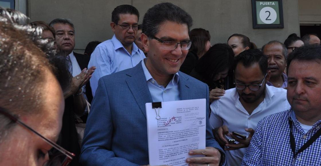 Armando Ríos Pitter, aspirante independiente a la presidencia de México