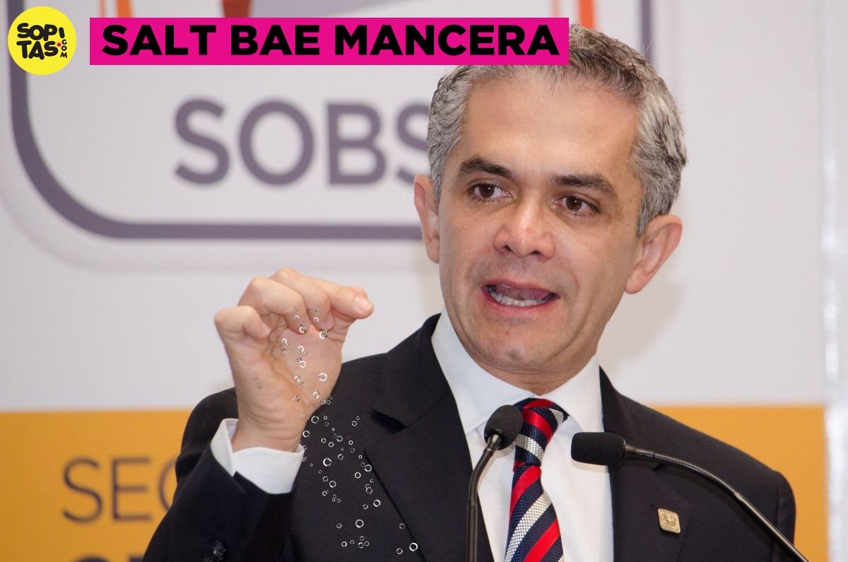 Meme #SaltBae Mancera