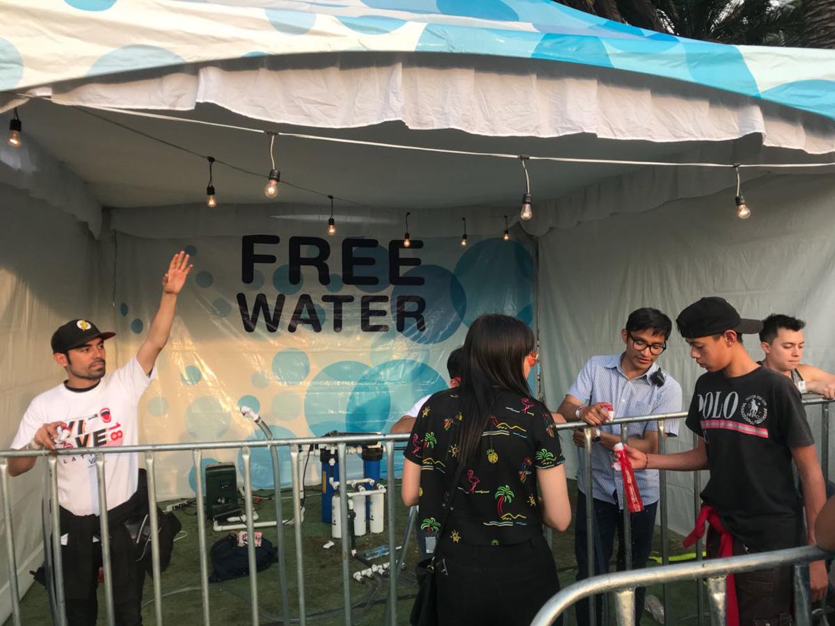 Agua Gratis en el Vive Latino 2018