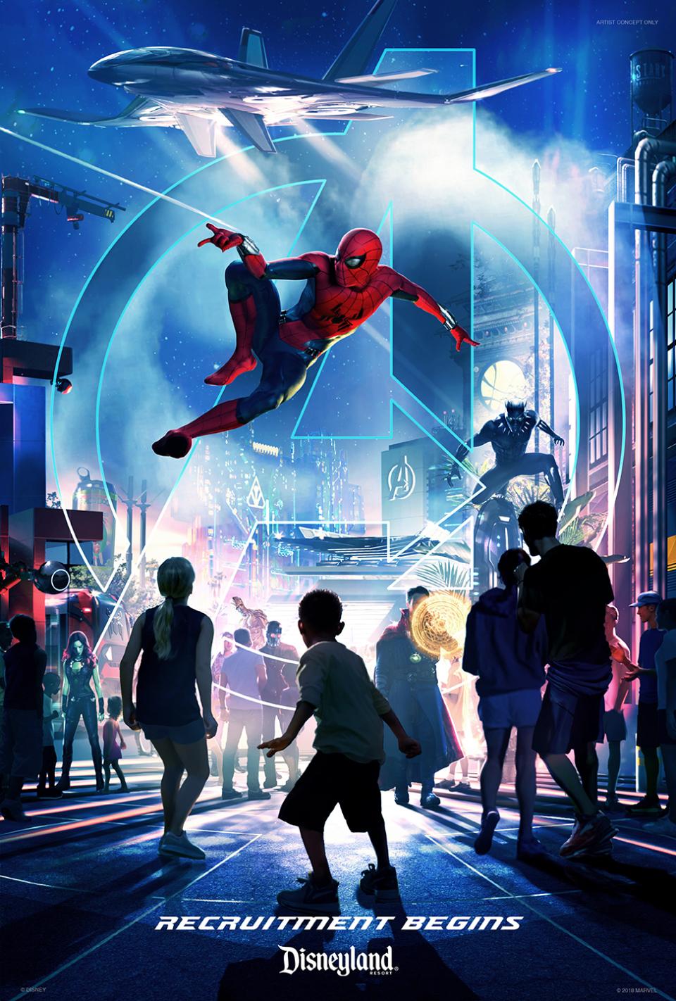 ¡Marvel tendrá su propio parque de diversiones en Disneyland!