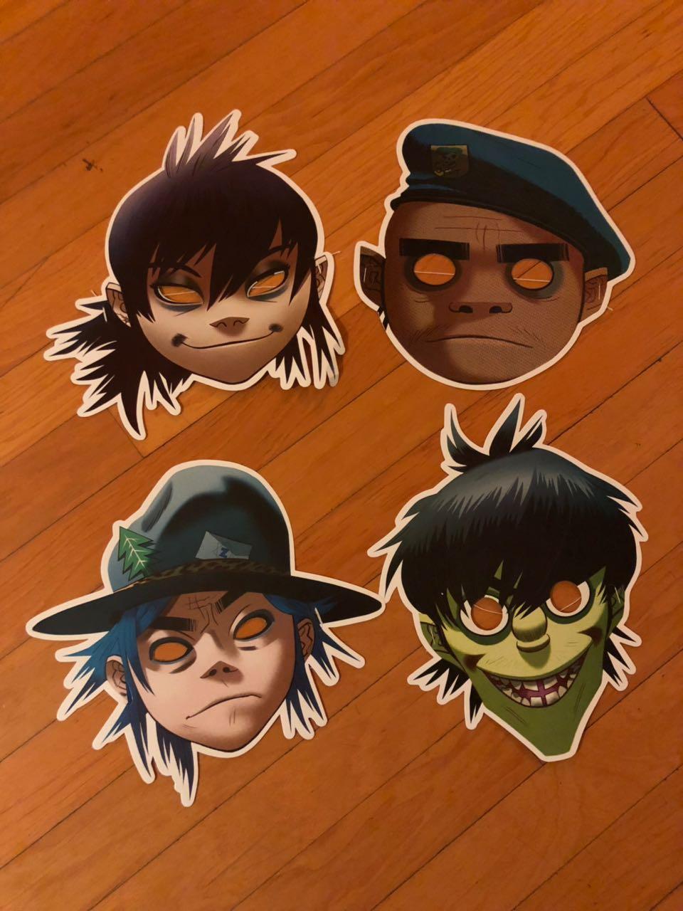 Así las bonitas máscaras de Gorillaz por parte de Sopitas.com