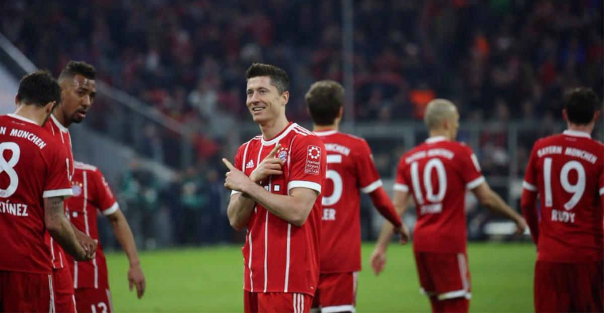Lewandowski anotó contra el Dortmund