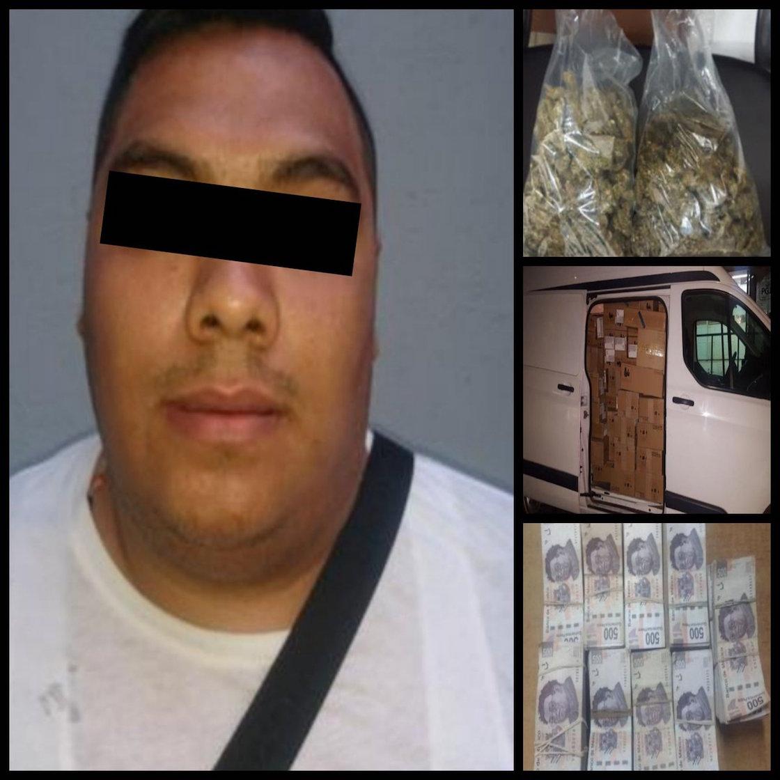 Detienen a un hombre de 30 años, relacionado con los delitos de narcomenudeo, encubrimiento por receptación y cohecho en la colonia Morelos