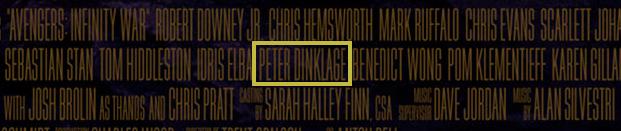 Peter Dinklage como parte de infinity war
