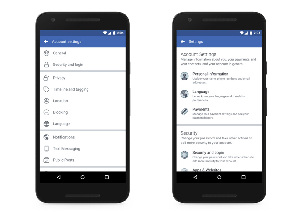 Facebook comenzó a implementar cambios en la configuración, ¿cuáles son?