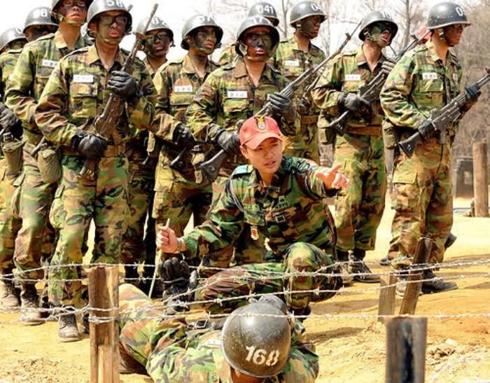 Entrenamiento en servicio militar de Corea del Sur