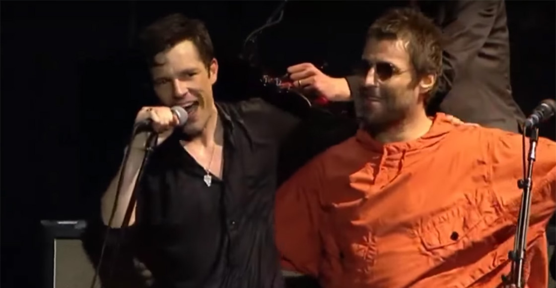 Liam Gallagher se subió al escenario junto a Brandon Flowers y The Killers porque… Liam