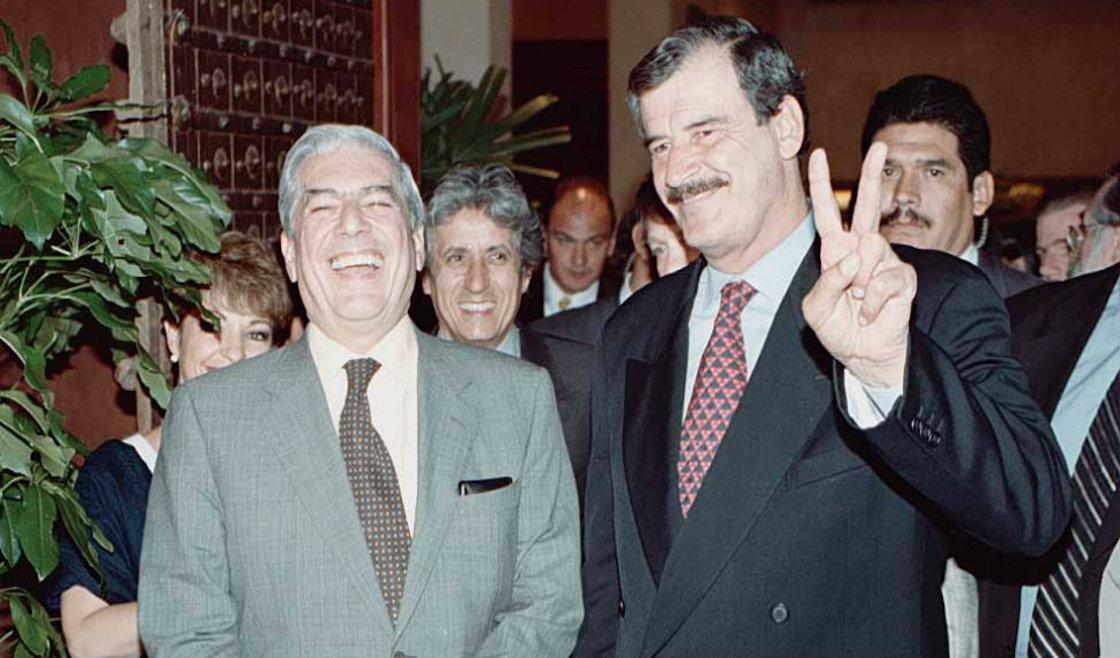 Mario Vargas Llosa y Vicente Fox