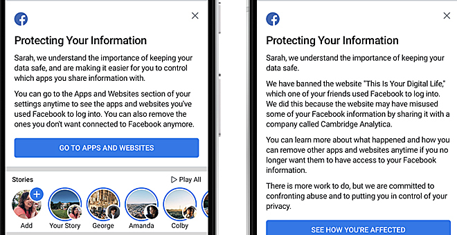 Facebook ya comenzó a anunciar en dónde y cuáles de tus datos están siendo utilizados