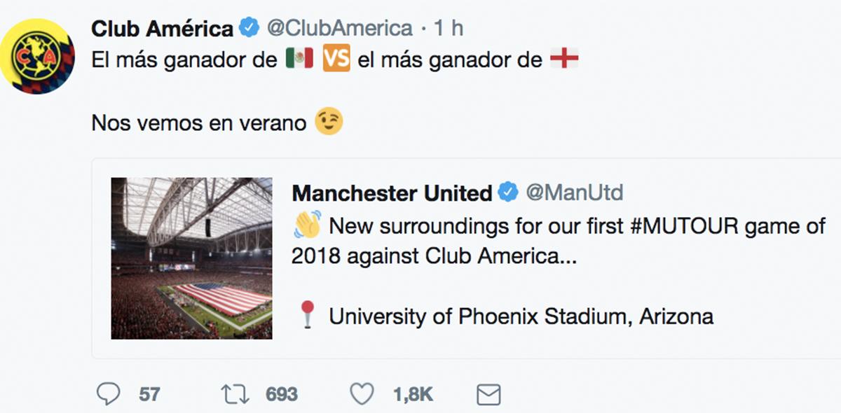 América contra el United