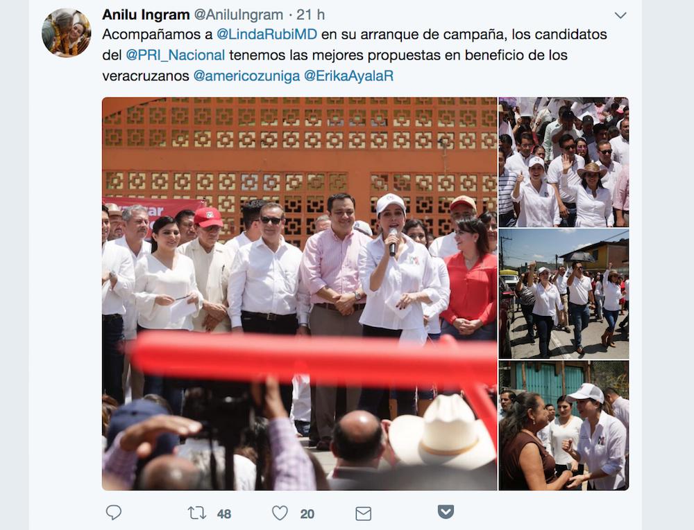 Anilú Ingram busca diputación elecciones 2018