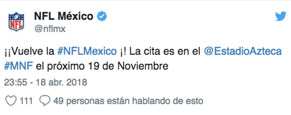 Twitter de la NFL México