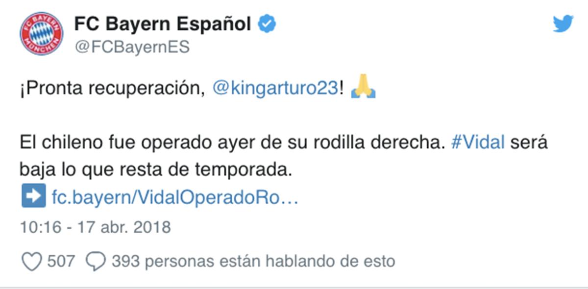 La baja de Vidal