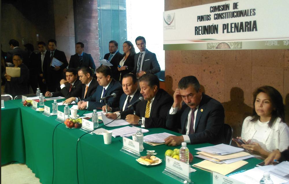 Comisión de Puntos Constitucionales Diputados eliminación fuero