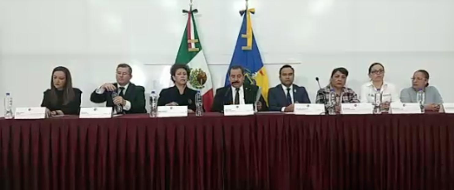 Conferencia prensa Fiscalía Jalisco